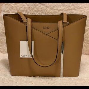 NEW Calvin Klein Leather Tote
